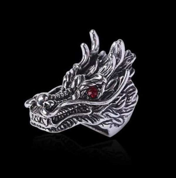 DRAGON HEAD RING - Rebelger.com