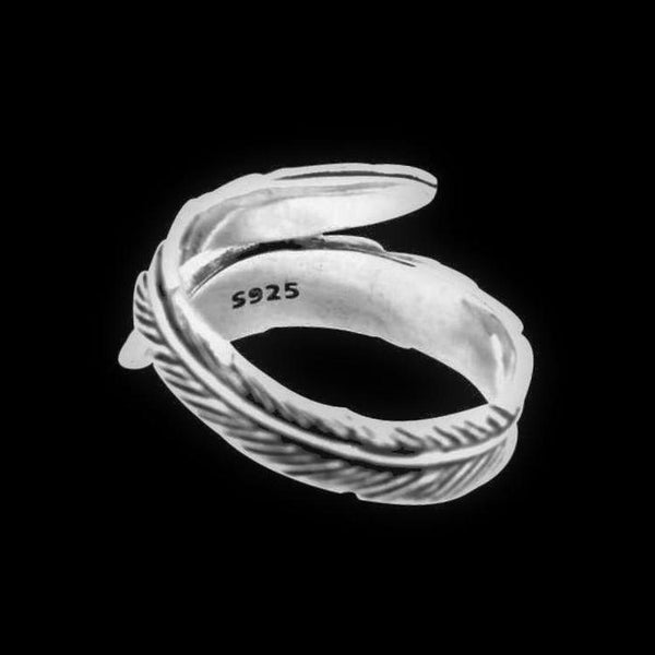 FEATHER WRAP 925 RING - Rebelger.com
