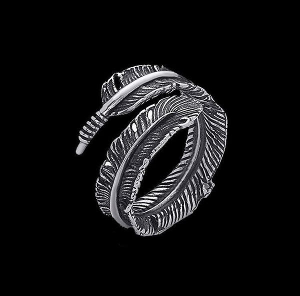 FEATHER WRAP RING-Rebelger.com
