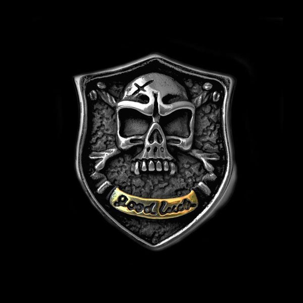 GOOD LUCK SKULL RING - Rebelger.com