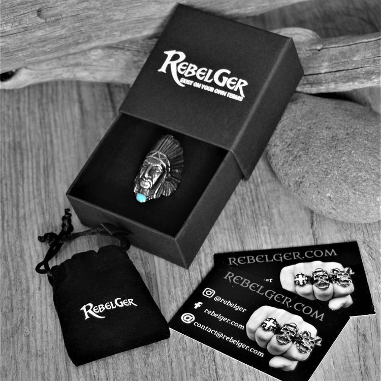 GRAND CHIEF TURQUOISE RING - Rebelger.com