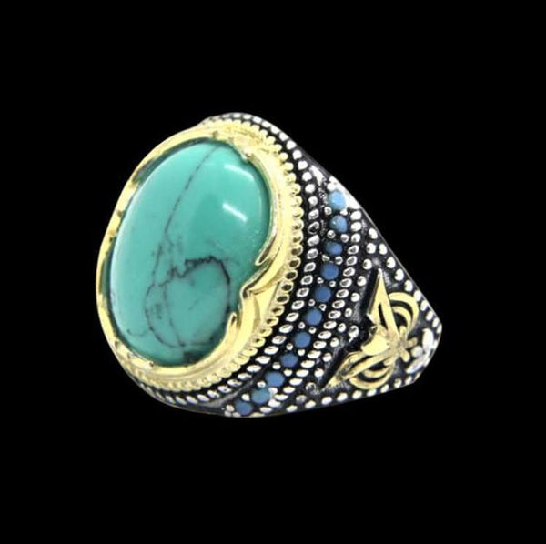 GREEN STONE 925 RING - Rebelger.com