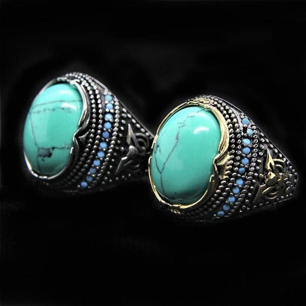 GREEN STONE RING - Rebelger.com
