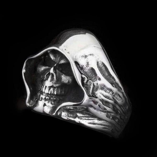GRIM REAPER SKULL HEAD RING-Rebelger.com