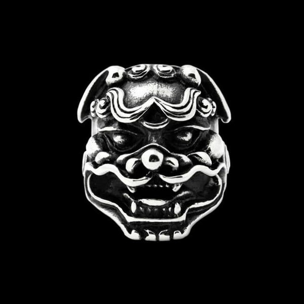 GUARDIAN LION DOG RING-Rebelger.com