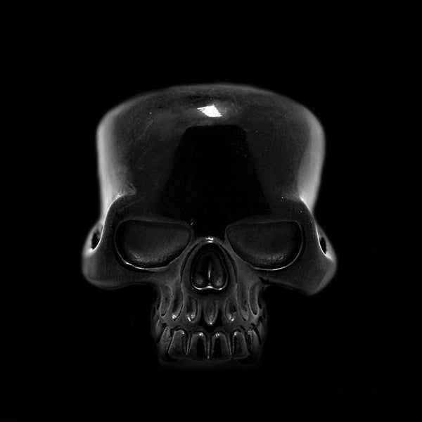 JAW SKULL BLACK RING - Rebelger.com