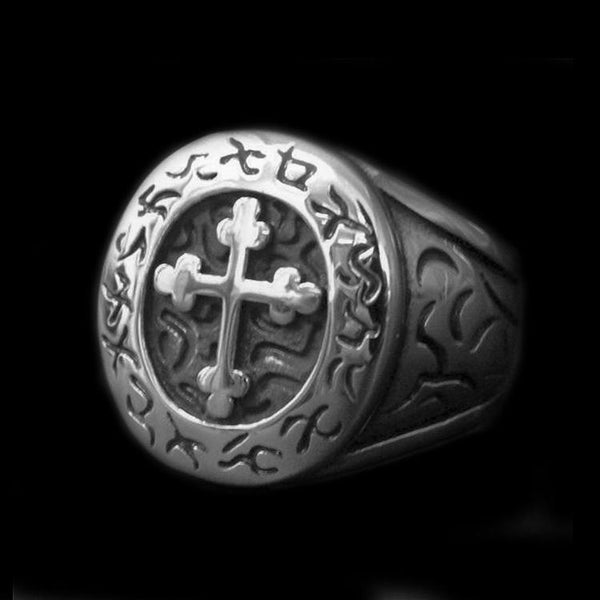 JESUS CROSS RING - Rebelger.com