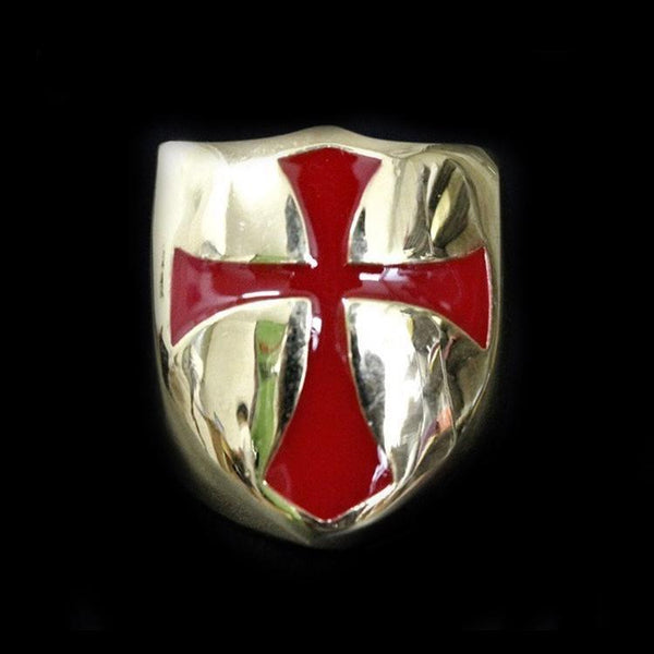 KNIGHTS TEMPLAR SHIELD RING - Rebelger.com