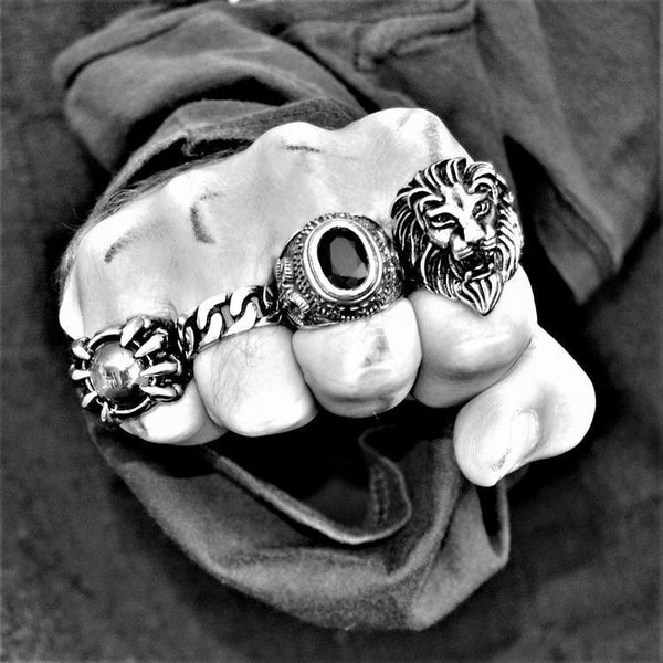LION HEAD RING-Rebelger.com