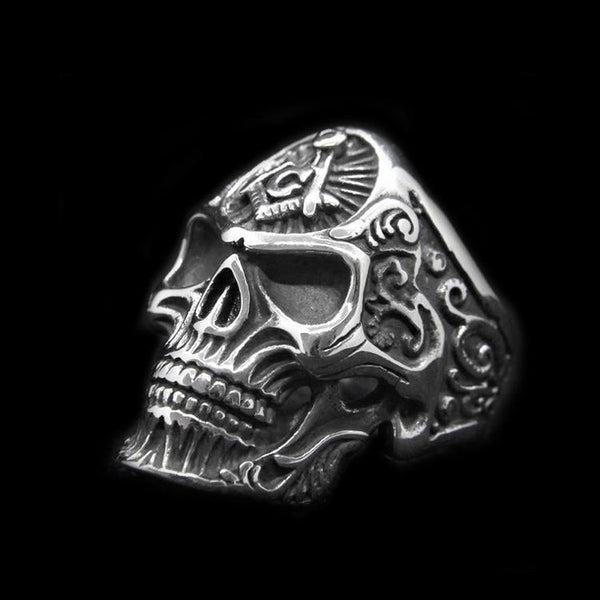 MASONIC SKULL RING - Rebelger.com
