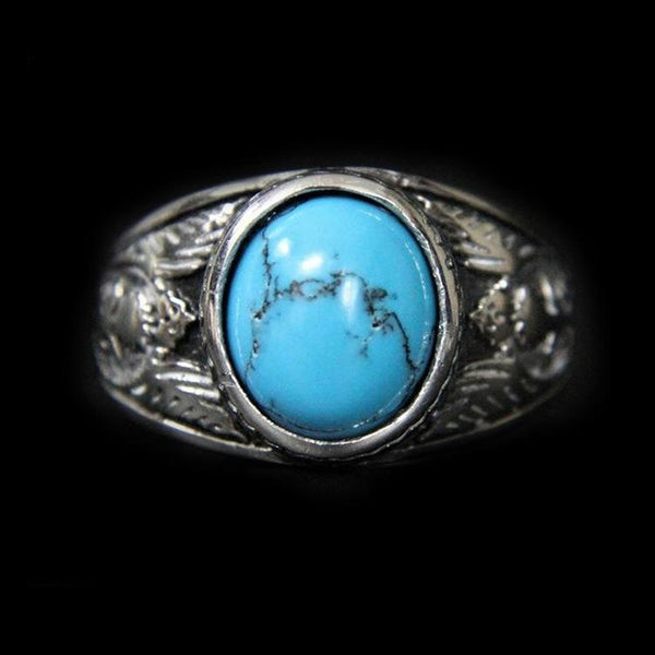 NATIVE NAVAJO STONE RING-Rebelger.com