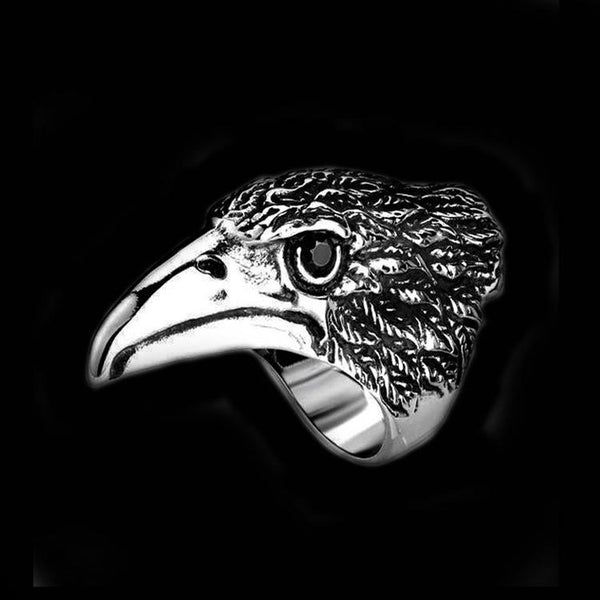 RAVEN HEAD RING - Rebelger.com