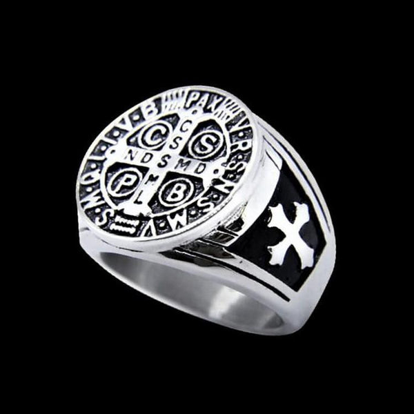 SAINT BENEDICT RING - Rebelger.com