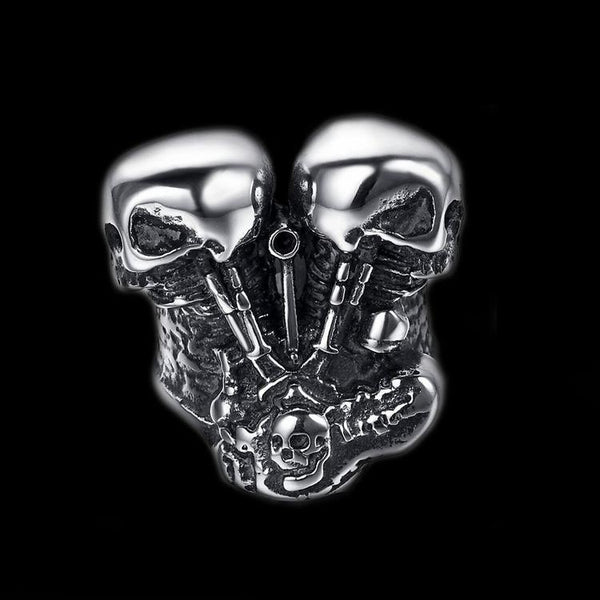 SKULL ENGINE RING - Rebelger.com