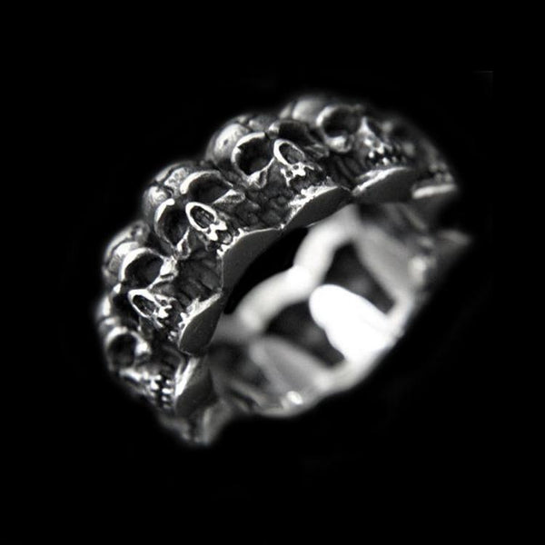 SKULL HEADS RING - Rebelger.com
