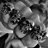 SKULL RIDER BLACK RING - Rebelger.com
