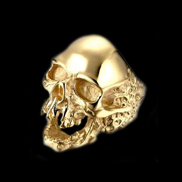 SKULL RIDER GOLD RING-Rebelger.com