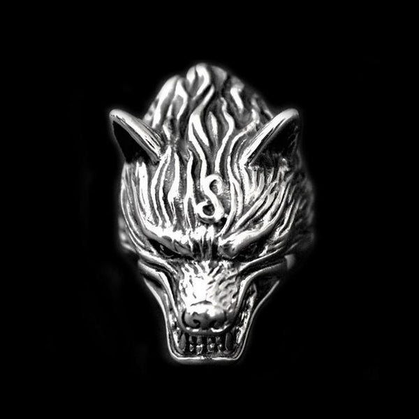 SNARLING WOLF RING-Rebelger.com