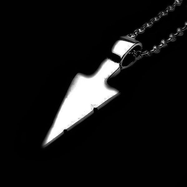 SPEAR ARROWHEAD NECKLACE-Rebelger.com