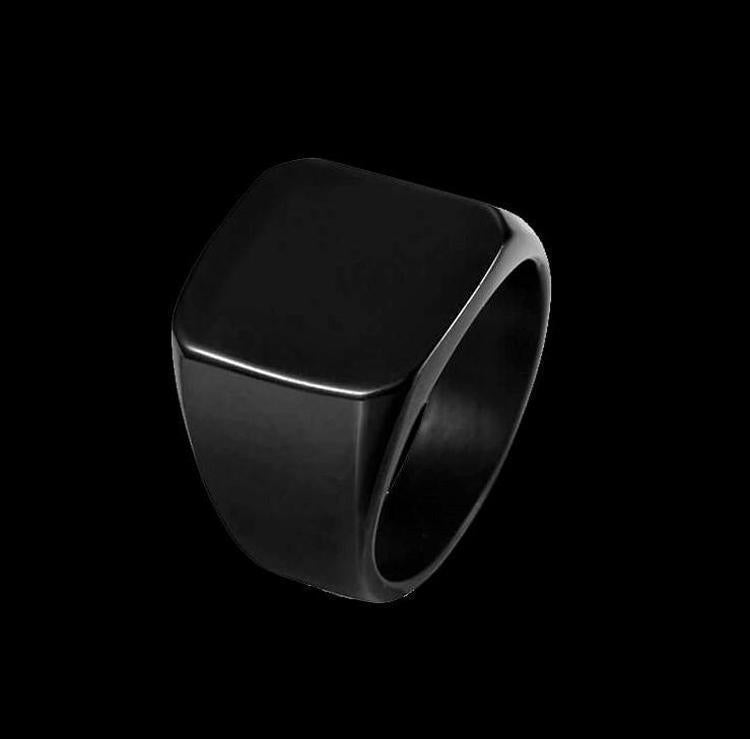 SQUARE BLACK RING-Rebelger.com