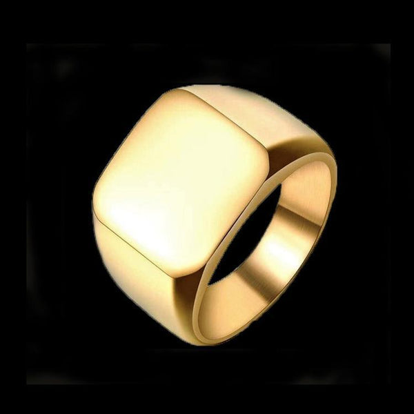 SQUARE GOLD RING - Rebelger.com