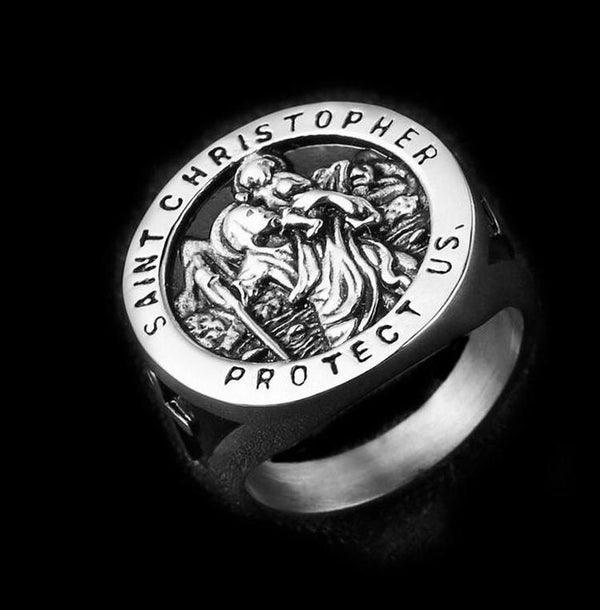 ST CHRISTOPHER RING - Rebelger.com