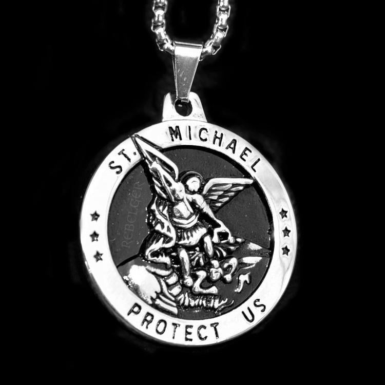 ST MICHAEL PROTECT US NECKLACE - Rebelger.com