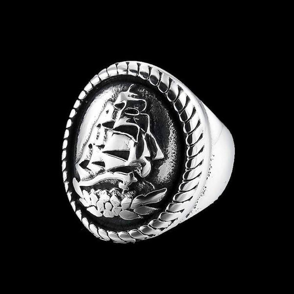 STEEL SAILOR RING - Rebelger.com