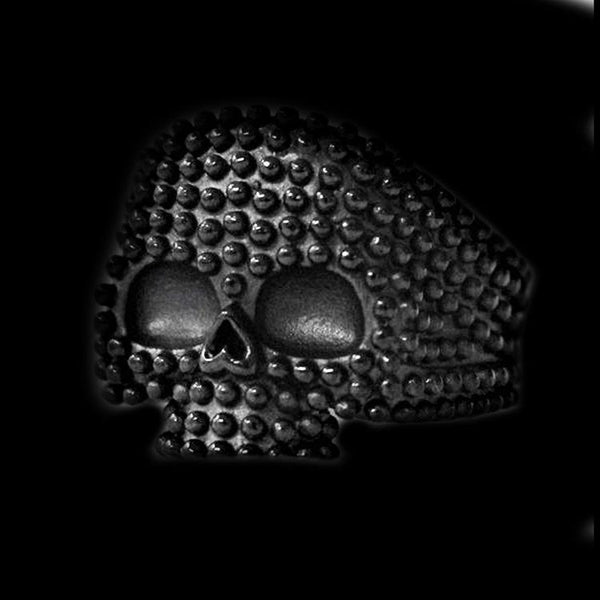 STUDDED PUNK SKULL RING - Rebelger.com