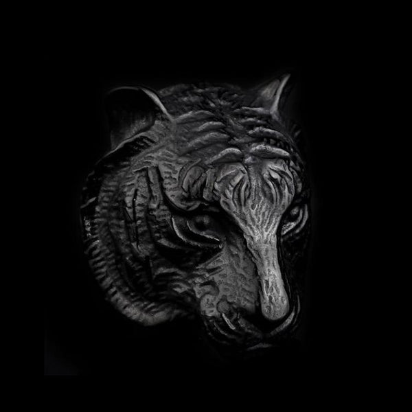 TIGER HEAD RING - Rebelger.com