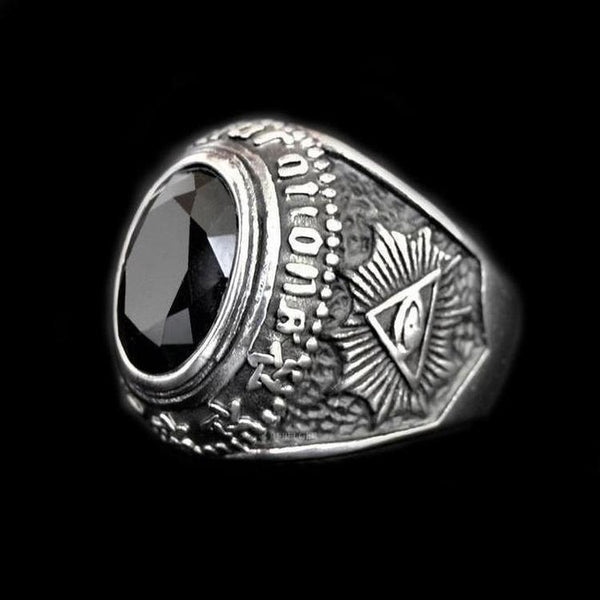 TOTEM GEMSTONE RING-Rebelger.com