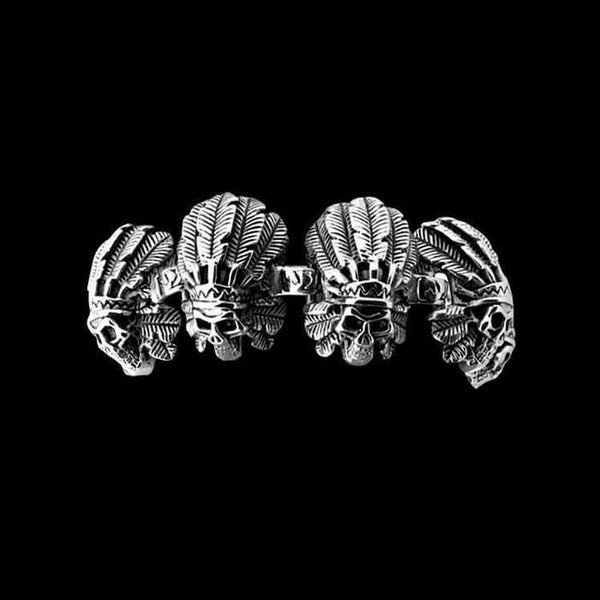 TRIBAL CHIEF SKULL BRACELET - Rebelger.com