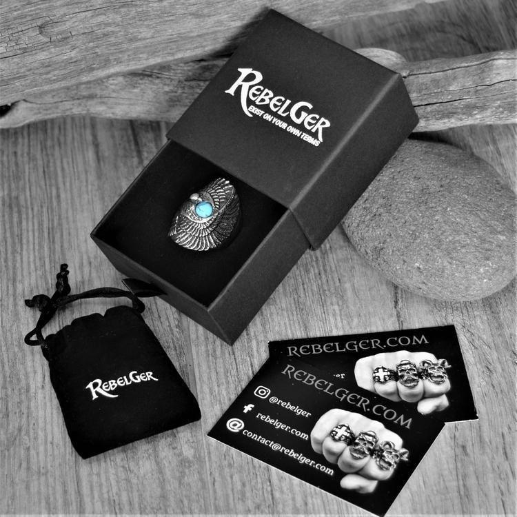 TURQUOISE EAGLE RING - Rebelger.com
