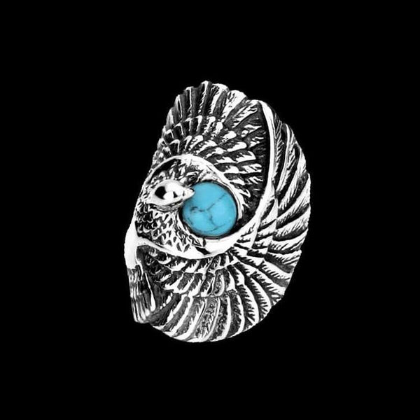 TURQUOISE EAGLE RING-Rebelger.com
