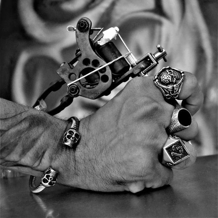TWISTED SKULL BRACELET-Rebelger.com