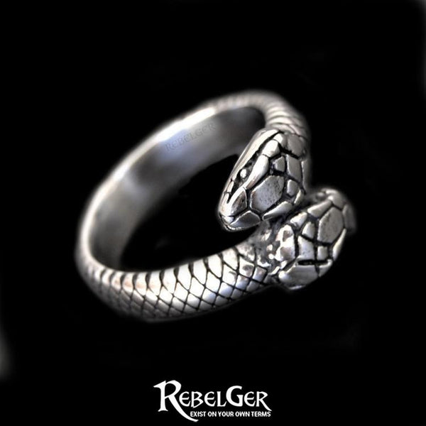 TWO HEADED SNAKE RING - Rebelger.com