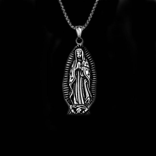 VIRGIN MARY FIGURE NECKLACE - Rebelger.com