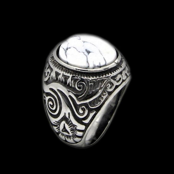 White stone ring - Rebelger.com