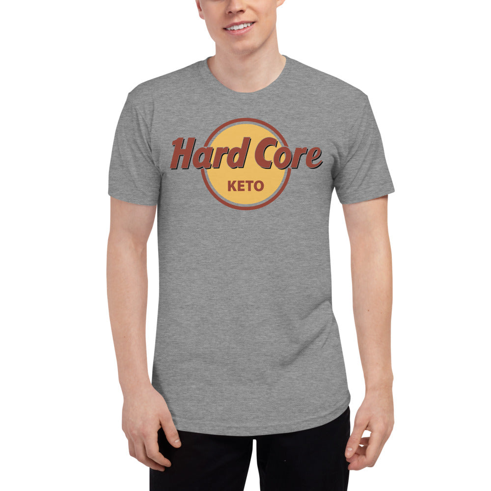 Hard Core Keto -Unisex Tri-Blend Track Shirt