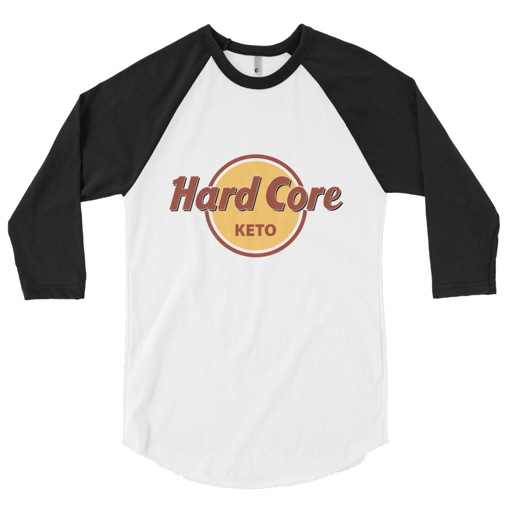 Hard Core Keto -3/4 sleeve raglan shirt