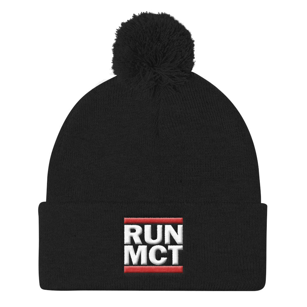 RUN MCT -Pom Pom Knit Cap