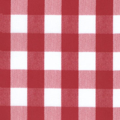 "1226 - Red & White Check  54"" X 54"" - Americo Vinyl & Fabric"