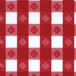 "1226 - Red & White Tavern Check 46"" X 112"" Vinyl Table Cover - Americo Vinyl & Fabric"