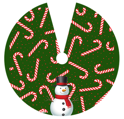 Snowman Candyland Vinyl Table Cover - Americo Vinyl & Fabric