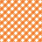 Orange Check Vinyl Table Cover - Americo Vinyl & Fabric