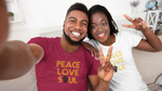 Load image into Gallery viewer, Unisex Peace, Love, Soul Tee