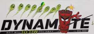 "1"" Dyno Perch Slayer Green 8 Pcs."