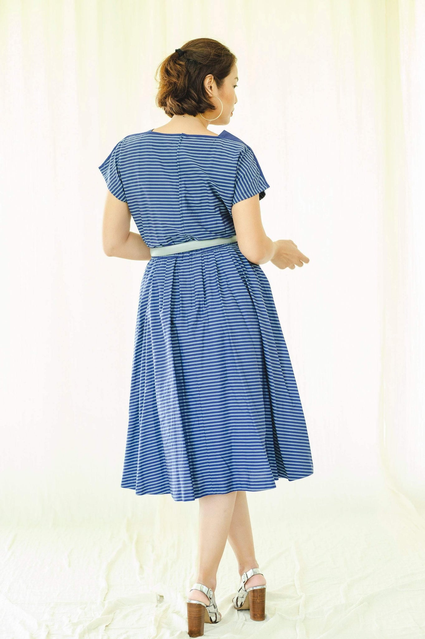 Lambelle branded cotton stripe vintage dress - Sugar & Cream Vintage