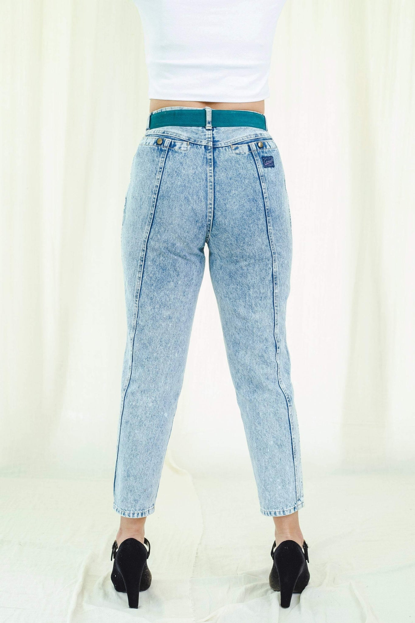 Jeans | Acid-washed | Vintage 1980s - Sugar & Cream Vintage