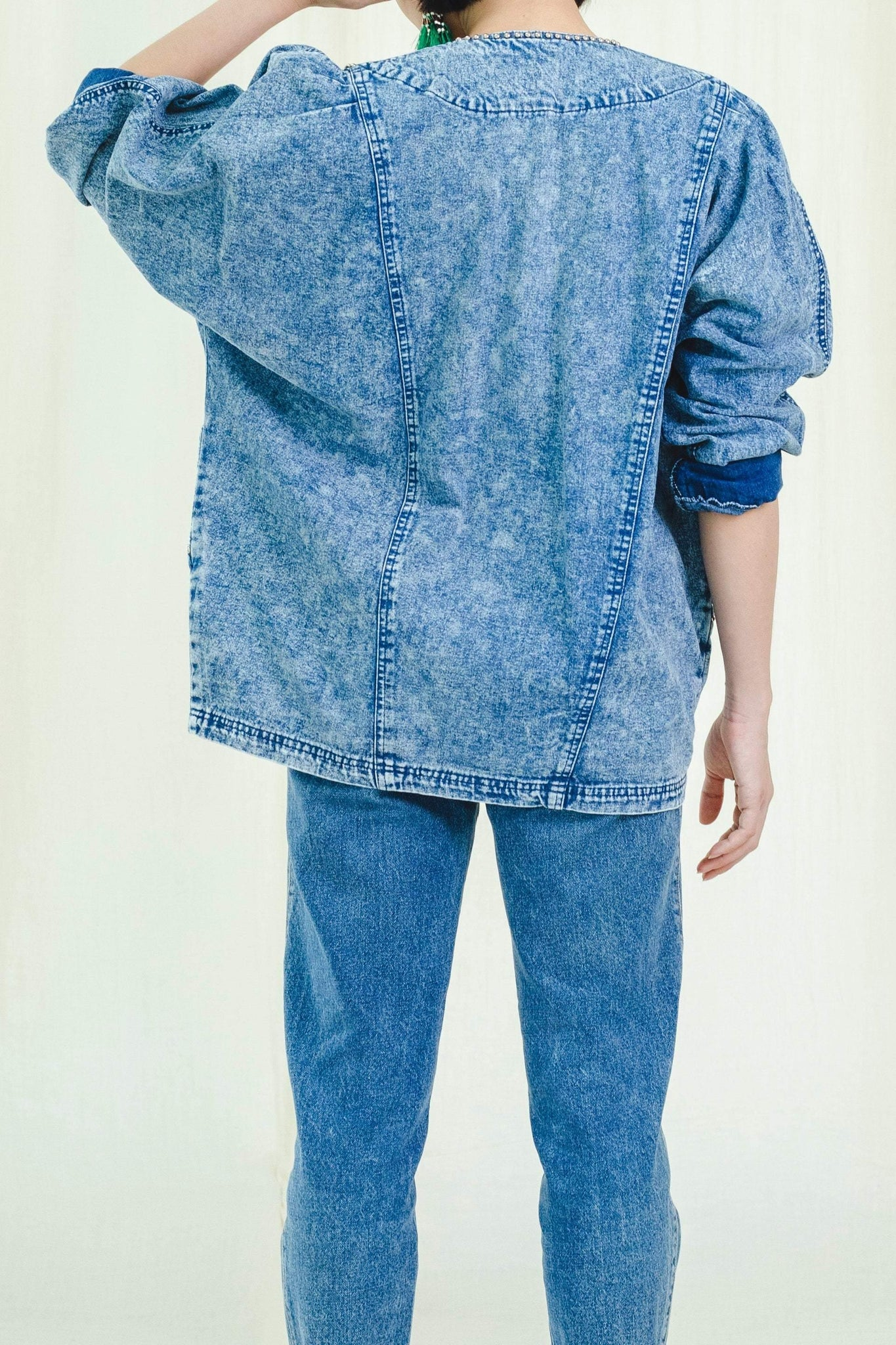 Jacket | Oversized Denim | Vintage 1980s - Sugar & Cream Vintage